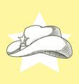cowboy hat hand drawn vector image