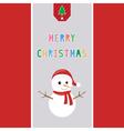 Merry Christmas greeting card38 vector image