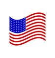 a flag usa icon vector image