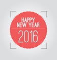 Abstract 2016 New Year Card vector image