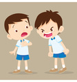 angry boy shouting at friend vector image vector image