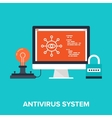 Antivirus System vector image vector image
