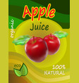 apple juice template packaging design illus vector image vector image