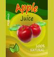 apple juice template packaging design illus vector image
