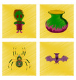 assembly flat shading style icon halloween vector image vector image