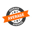 average sign average orange-black round ribbon vector image vector image