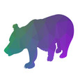 bear silhouette abstraction low poly style vector image vector image