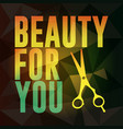 beauty for you vector image