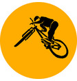 bicycle mtb trick jump vector image vector image