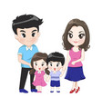big family has parents son daughter vector image vector image