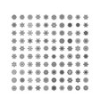 black snowflakes icon on white background vector image