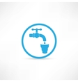 Blue tap water tap icon vector image vector image
