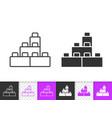 building block simple black line icon vector image