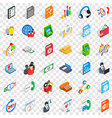 business plan icons set isometric style vector image vector image