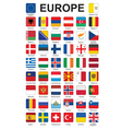 buttons with flags of Europe vector image
