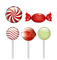candy sweet icons design isolated vector image