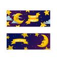 cartoon moon moonlight star character in vector image vector image