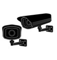 cctv security cameras black outline drawing vector image vector image