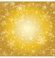 Christmas background with snowflakes on golden vector image vector image