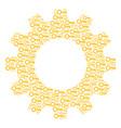 cog mosaic of key icons vector image vector image
