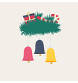 Colorful New Year or Christmas card design vector image vector image