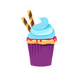 cupcake or muffin vector image