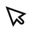 cursor icon mouse pointer click symbol vector image vector image