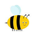 cute cartoon bee isolated on white background vector image