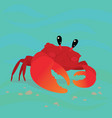 cute crab in a cool pose underwater vector image