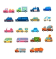 Cute Toy Car Set Of Icons vector image vector image
