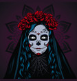 dead girl on a mexican holiday vector image