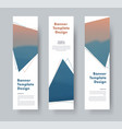 design of vertical web banners with triangles and vector image vector image