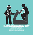 Electrocardiogram Test vector image vector image