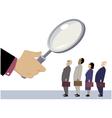 Employee evaluation vector image vector image