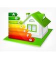 Energy efficiency rating with vector image vector image