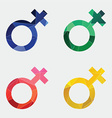 female symbol icon Abstract Triangle vector image vector image