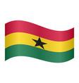 flag of ghana waving on white background vector image