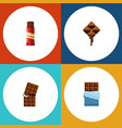 flat icon sweet set of sweet delicious bitter vector image vector image