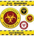 flu outbreak vector image vector image
