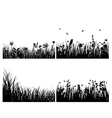 Grass silhouettes background set