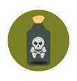 happy halloween potion bottle with creepy skull vector image vector image