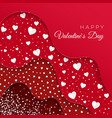 Happy valentines day greeting card red layers