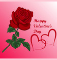 heart with bouquet of roses vector image vector image