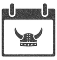 Horned Helmet Calendar Day Grainy Texture Icon vector image vector image