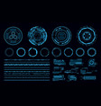 hud elements futuristic blue virtual graphic vector image