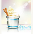 ice cream realistic summer delicious vector image vector image