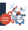 infographic flat design concept of news vector image vector image