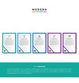 infographic label design template vector image vector image