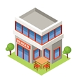 Isometric burger house vector image vector image