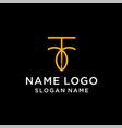 letter r leaf logo vector image vector image